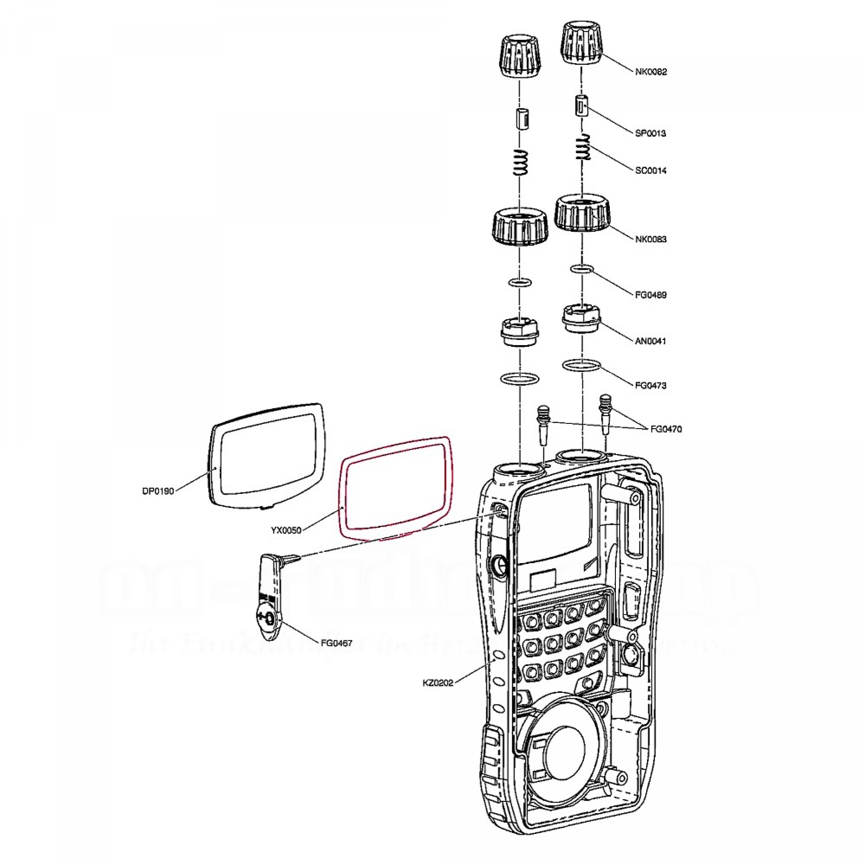 Display-Tape für DJ-X11/ DJ-G7