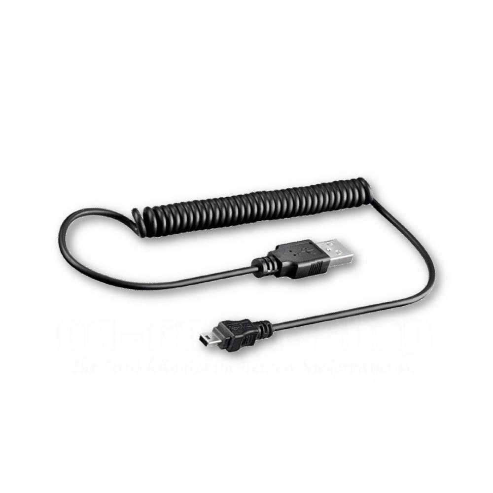 Mini-USB Spiralkabel