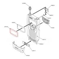Displayglas für DJ-C7E/ DJ-X7E