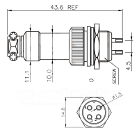 Miniaturstecker, 3-Polig