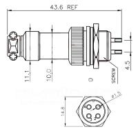 Miniaturstecker, 4-Polig