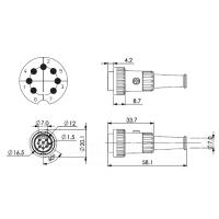 Stecker, 7-Pol, Renkverschluss