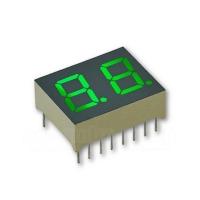 2-Stellig, 10 mm, grün / Anode