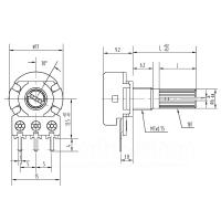 1KΩ Potentiometer, linear