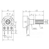 10KΩ Potentiometer, linear